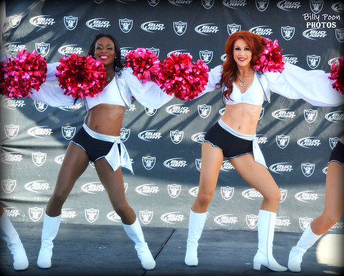 2015 Oakland Raiderettes Monique & Wendy @ Raiderville