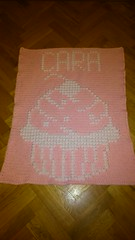 Cupcake blanket for Cara (dochol) Tags: chart cute wool handmade name crochet craft graph yarn homemade cupcake blanket afghan bebe alphabet manta babyblanket personalised croche babyname crochethooks haakenwert