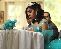 Quinceanera (Prayitno / Thank you for (9 millions +) views) Tags: birthday blue tiara cute church girl pretty catholic dress prayer pray praying young 15 indoor teen hispanic latina mass 15th quince fifteen misa quinceanera fifteenth konomark
