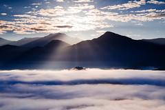 Sunrise /  (Cheng-Yang, Chen) Tags: light cloud fog dawn  sunmoonlake surise nantou        vsco