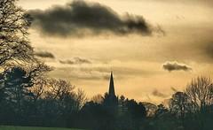 Spire EXPLORED! (tina negus) Tags: winter church water afternoon spire rutland edith weston sku