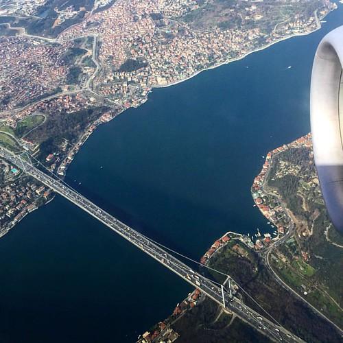 #Istanbul #turkey #Bosphorus #B738 #turkishairlines #thy