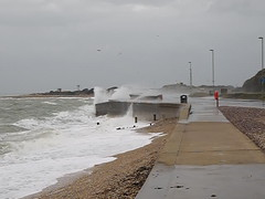 Stormy Stokes Bay 1 of 2 (fstop186) Tags: road storm cars weather dangerous flooding waves bad stormy solent crashing stokesbay