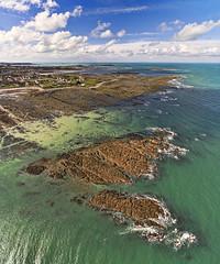 Vazon South Vertorama (Ningaloo.) Tags: winter beach bay coast rocks south aerial reef guernsey vazon vertorama