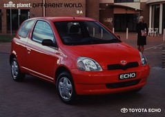 Toyota Echo - same planet, Different World. 2001  (Australia) (World Travel Library) Tags: world auto 2001 travel cars car japan by ads japanese drive photo model automobile different ride image photos library echo go wheels transport models picture australia automotive center literature photograph papers same toyota planet vehicle motor makes collectible collectors sales brochures catalogue  automobiles documents fahrzeug frontcover motoring wagen automobil  prospekt dokument katalog worldcars worldtravellib