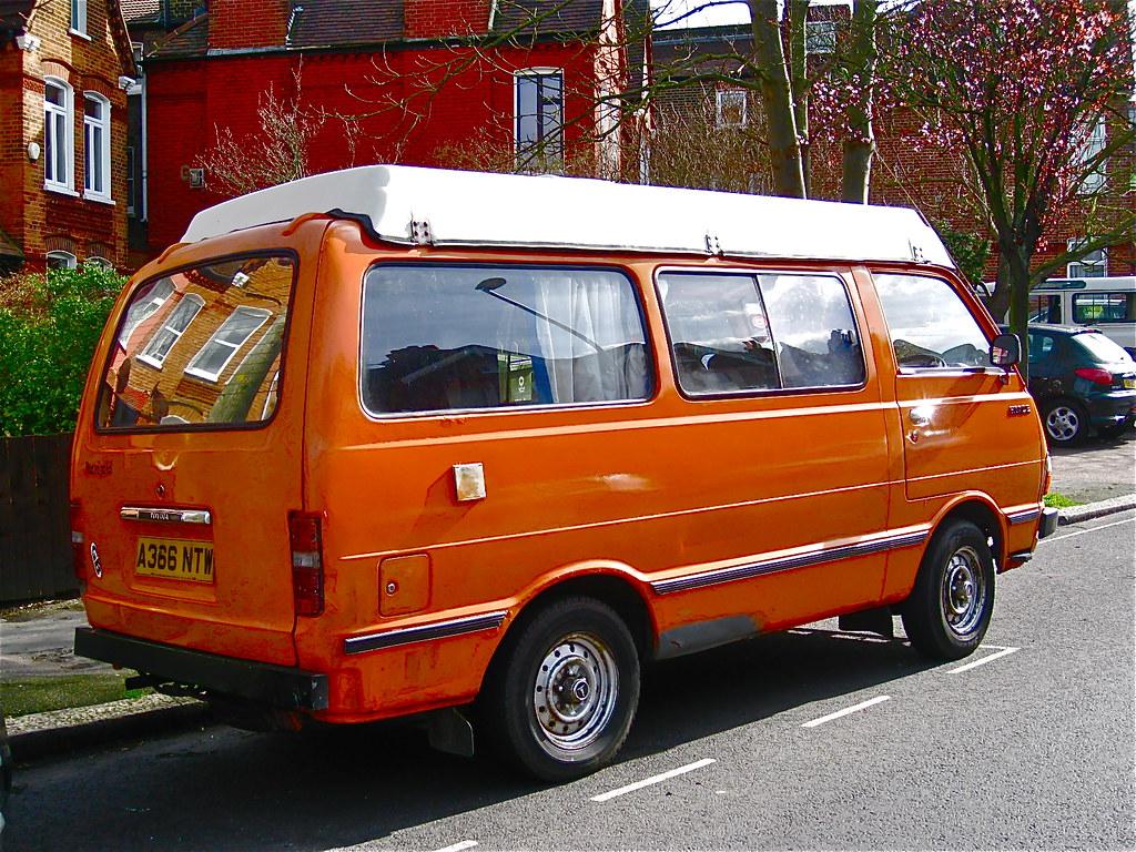 1982 1983 TOYOTA HiAce Camper Van ClassicsOnTheStreet Tags Uk Orange Bus London