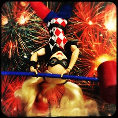 Harley Anti-Gravity (waterrbrer) Tags: harleyquinn dollphotography hipstamatic dcsuperherogirls