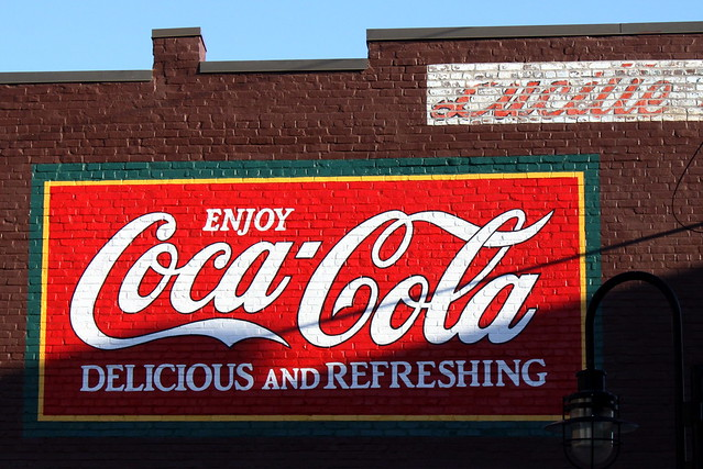 Restored Coca-Cola mural - Old City Knoxville