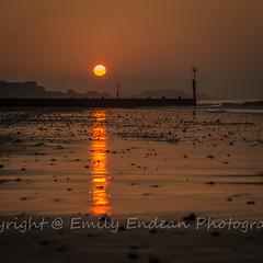Southbourne Sunrise (Emily_Endean_Photography) Tags: uk winter sunset sea england sun seascape cold beach water sunrise season coast seaside spring nikon waves dof pov south dorset splash groyne bournemouth southbourne jurassiccoast