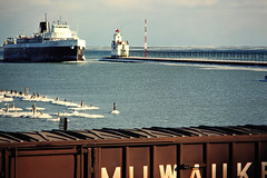 AA, Kewaunee, Wisconsin, 1980 (railphotoart) Tags: city wisconsin unitedstates wb milwaukee viking aa eb stillimage kewaunee