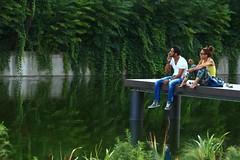 Smoke on the water (andreaprinelliphoto) Tags: estate milano smoke tshirt acqua canale ragazza coppia naviglio deeppurple ragazzo riflesso sigaretta darsena maglietta smokeonthewater andreaprinelliphoto andreaprinelli prinelli