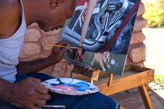 Concentration (SteveinAZ) Tags: paint brush painter concentrate oilsman