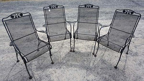 4 Mesh Patio Spring Chairs - $99.00