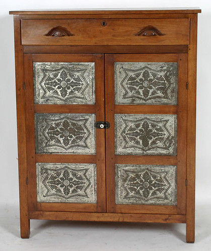 Walnut 12 Tin Valley Pie Safe $1,100.00