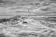 In a rush (Paul-Farrell) Tags: lighthouse canon mono waves wirral newbrighton merseyside ndfilter rivermersey 24105mm 3stop perchrock 5dmkiii paulfarrell fagsy63