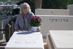 Mourning for my father. Rishon LeZion Military Cemetery, February 2016. (joelschalit) Tags: cemetery dead death israel mourning religion middleeast graves burial judaism militarycemetery rishonlezion