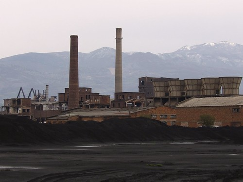 Quelques restes de charbon