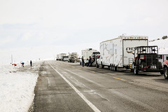 Waiting (wyojones) Tags: people snow storm car truck waiting closed snowstorm wyoming trailer winterstorm lander southpass wyojones wyominghighway28
