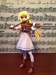 Happy Birthday, J.S. Bach! (Sasha's Lab) Tags: musician anime girl toy aya action bach violin solo figure blonde fiddle gsc kagura violinist fiddler partita sooc jfigure goodsmile goodsmilecompany figma sekirara