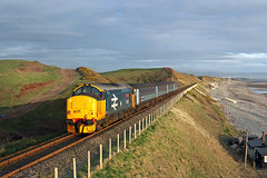 37402 Nethertown 5th April 2016 (John Eyres) Tags: with stephen carlisle approaching braystones 050416 1737 barrowinfurness middlemore 37402 nethertown 2c42