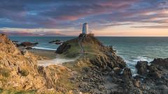 'Pastel Light' - Llanddwyn Island, Anglesey (Kristofer Williams) Tags: sunset cloud sunlight lighthouse beach wales landscape coast llanddwyn anglesey sidelight newborough