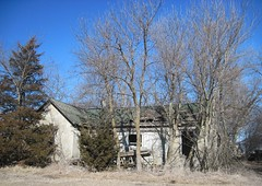 38. Another long-abandoned house right next door! Mercier, 2-14-16 (leverich1991) Tags: brown town exploring ghost kansas mercier 2016