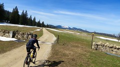 Good Day To Grind Gravel (collideous) Tags: road blue sky bike spring ride gravel grinding 10042016