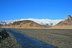 Undir Eyjafjöllum (skolavellir12) Tags: blue winter sky snow water river iceland stones eruption gos jökull eyjafjallajökull suðurland