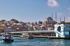 Galata Bridge (Albert Jafar) Tags: bridge turkey boat ngc restaurants istanbul mosque bosphorus cruiseboat karakoy galatabridge ngs eminonu sulemaniyemosque thegoldenhorn photographerswharf