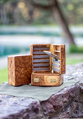Handmade wooden fly fishing boxes. (Kodjii) Tags: wood box handmade ukraine flyfishing elm wildolive