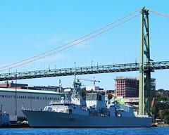 HMCS ST. JOHN'S (Roger Litwiller -Author/Artist) Tags: st navy royal canadian halifax johns hmcs rcn