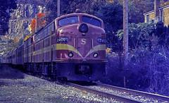 New York, Susquehanna & Western E9A 2400, Pompton Lakes (2 of 3) (gg1electrice60) Tags: county railroad ny newyork newjersey gm nj row autumnleaves butler upstatenewyork newyorkstate orangecounty warwick locomotives coveredwagon threerivers rightofway dieselengine generalmotors 3rivers railroadtrack passengertrain susieq morriscounty emd sussexcounty diesellocomotive pomptonlakes fantrip e9a orangecountyny passaiccounty nysw electromotivedivision classicdiesel ramaporiver franklinnj butlernj newyorksusquehannawestern sussexcountynj pequannockriver wanaqueriver maroonyellow eunits restoredlocomotives pomptonlakesnj pomptonfalls pomptonjunction bairdsfarm passengerlocomotive railfantrip newyorksusquehannaandwesternrr newyorksusquehannawesternrailroad fallexcursion stockholmnj firstgenerationdiesel nyswe9anumber2400 nyswe9ano2400 nyswe9a2400 nyswe9anumber2402 nyswe9ano2402 nyswe9a2402 colorfulfallleafexcursion restoreddieselengines downtownpomptonlakes pomptonlksnewjersey
