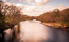 The River Tees . (wayman2011) Tags: uk trees reflections landscapes rivers canon5d dales pennines lightroom countydurham longexposures teesdale barnardcastle rivertees bw110 wayman2011