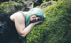 The One that dreams (PhotographerJockeFransson) Tags: portrait green forest canon eos sweden wigs 6d portrtt