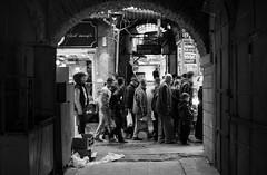 DSC_0058 (zeynepcos) Tags: street door people blackandwhite monochrome turkey istanbul bazaar eminonu sirkeci tahtakale