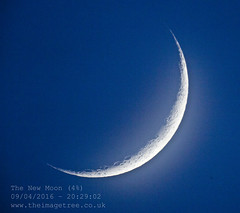 New Moon (4%) (Gez_1) Tags: moon astrophotography astronomy celestron crescentmoon nexstar5se canon5dmkii adobephotoshopcs5