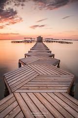 Pasarela Hexagonal (serpinifotografo) Tags: longexposure beach playa murcia amanecer pasarela degradado santiagodelaribera nd10 lucroit