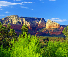 Sunset, Sedona, Arizona 2013 (inkknife_2000 (6 million views +)) Tags: sunset cactus usa mountains landscape sundown redrocks skyandclouds americanwest rockformations americansouthwest redsandstone sedonaaz lightonrocks dgrahamphoto sunsetonredrock