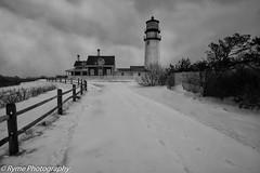 Quaint (Ry Meehan) Tags: winter bw usa snow cold landscape nikon capecod massachusetts truro lighthose highlandlight d800e