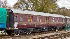LMS 603 (JOHN BRACE) Tags: very maroon railway worn use keynes volunteer accommodation bluebell livery horsted eachwithtwobunkberths builtatderbyworksin1951m603mthislmsdesignedcoachwasactuallybuiltbybritishrailwaysshortlyafternationalisationithaseleventhirdclasscompartments andanattendantsroomuseatvolunteeraccommodationathorstedkeynesonthebluebellrailway