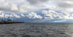 Cloudy sky (PeterJot) Tags: sea sky seascape harbor seaside cloudy wave poland baltic hel breakwater cloudsky pomorskie