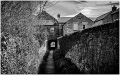 Broadgates 2 . (wayman2011) Tags: uk houses architecture canon5d archways dales pennines alleys lightroom countydurham teesdale barnardcastle bwlandscapes footpaths wayman2011