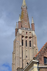 Tower - Onze-Lieve-Vrouwekirk (Church of our Lady), Bruges. (greentool2002) Tags: our church lady lieve bruges onze vrouwekerk