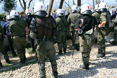 DEMONSTRATION at FYROM Border, Refugee Crisis, Idomeni  2016 4 7 (John Rudoff) (John Rudoff, M. D.) Tags: refugee greece macedonia humanrights borders grc fyrom afghanis syrians evzoni eidomeni polykastro idomeni syrianrefugeecrisis balkanroute middleeasternrefugees fyromborder idomenirefugeecamp macedonianborder