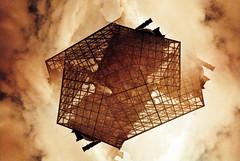 pyramide du louvre 03 (saturedcamtar) Tags: paris france analog 35mm french outside lomography exposure alt exposition 135 split pyramide multi argentique exterieur redscale splitzer