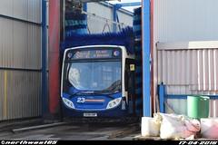 27566 (northwest85) Tags: bus going wash portsmouth depot service through 300 alexander dennis stagecoach enviro adl gnp 27566 gx58gnp gx58