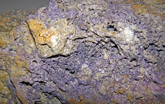 Fluoritized fossiliferous limestone (Mississippian; Hastie Quarry, near Cave-in-Rock, Illinois, USA) 6 (James St. John) Tags: rock mississippi illinois kentucky district replacement upper valley type limestone cave quarry deposit fluorite caveinrock fossiliferous hastie deposits fluorspar fluoritized