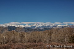 April 3, 2016 - The snow-capped Rocky Mountains. (Michelle Jones)