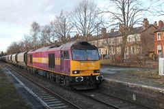 60024 6F05 Hale 19/02/12 (Neil Altyfan - Railway Photography) Tags: near limestone tug hale loaded oakleigh altrincham ews class60 tunstead 60024 6f05