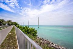 Mile marker 75 in Islamorada Florida Keys. (JesseMichaelMarshall) Tags: florida bridges tropical bayside islamorada hdr floridakeys robinson12mm